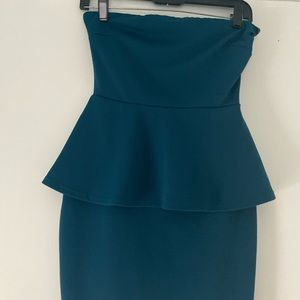 Charlotte Russe - Turquoise Strapless Dress S